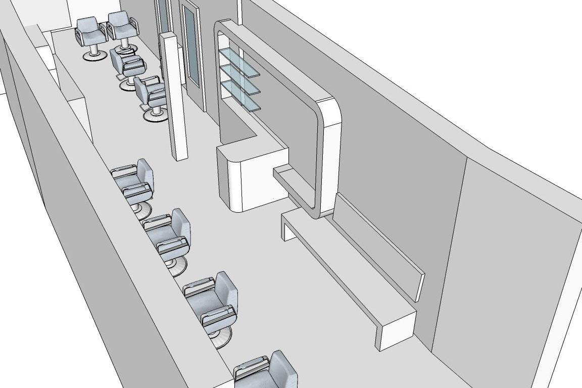 Interieur kapsalon studio stoel for Kapsalon interieur te koop