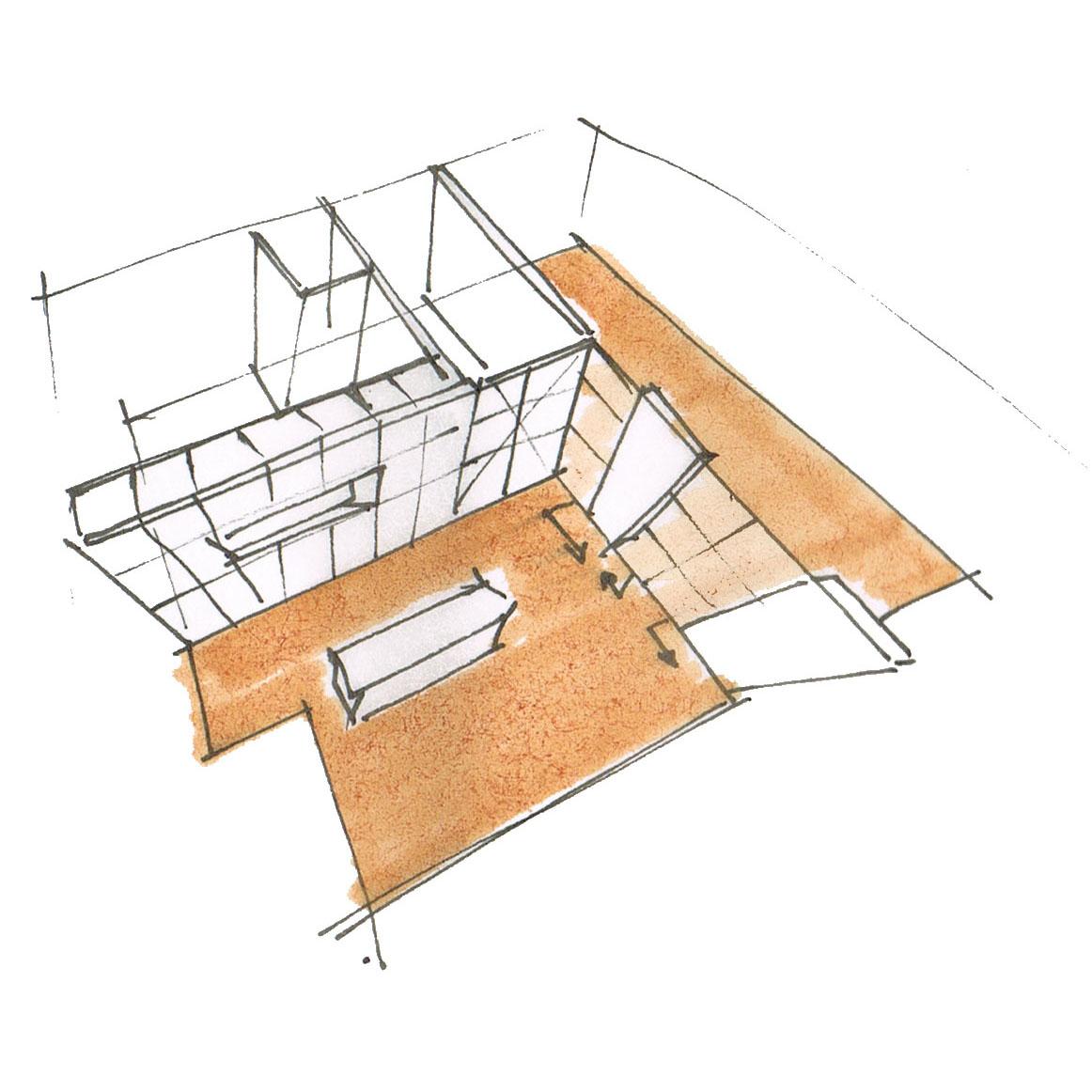 Ontwerp voor een nieuwe indeling van een bijzondere jaren '30 woning.