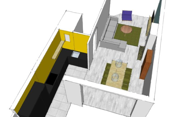 Interieurontwerp woonhuis