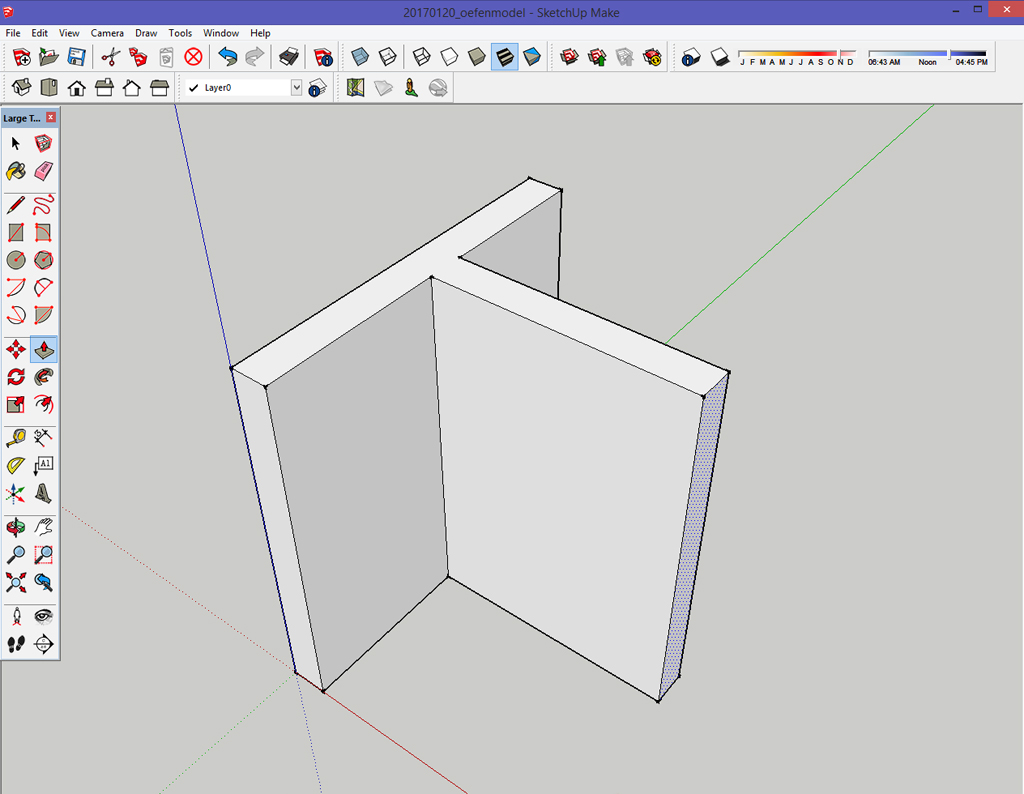 studio stoel_architect_interieurarchitect_kampen_zwolle_sketchUp_beginnen met tekenen